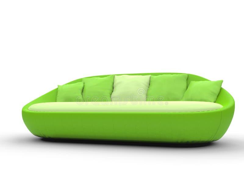 Sofà verde intenso immagine stock