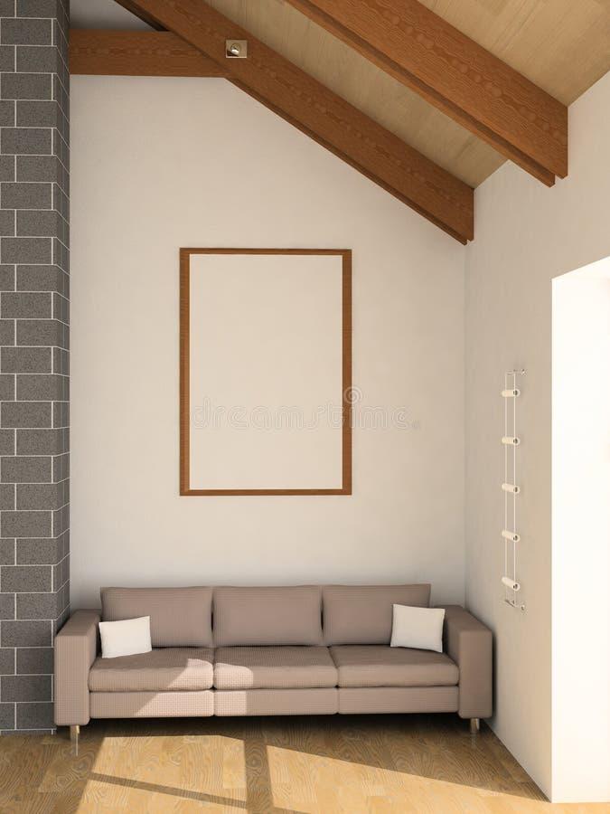 Sofá stock de ilustración