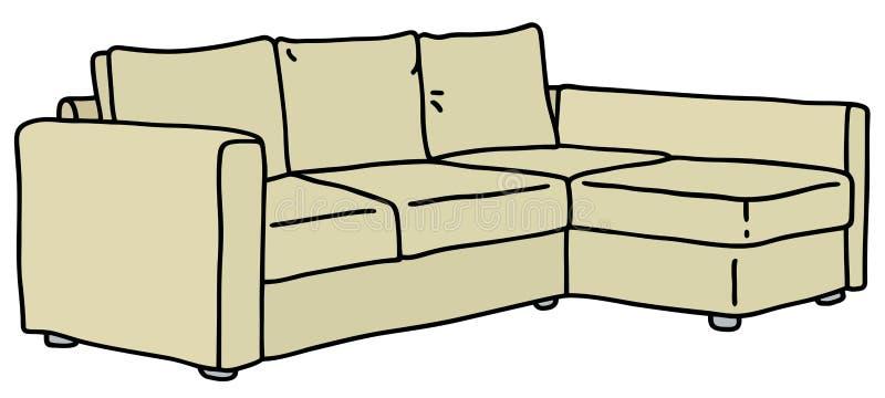 Sofá amarillento libre illustration