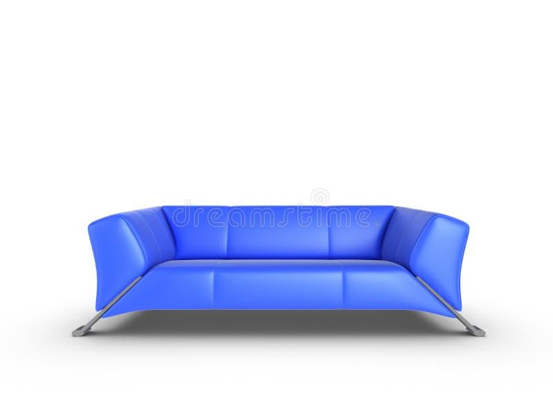 Sofá azul ilustração royalty free
