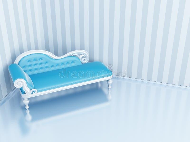 Sofá azul ilustración del vector