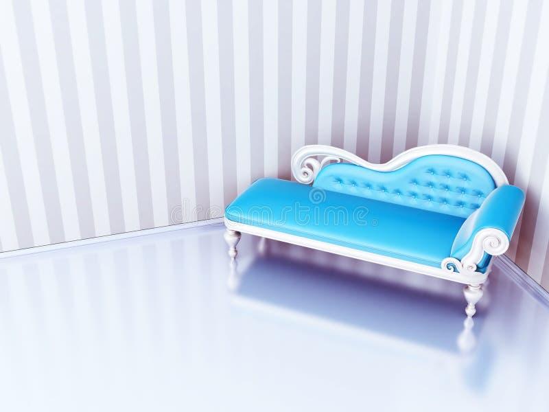 Sofá azul libre illustration
