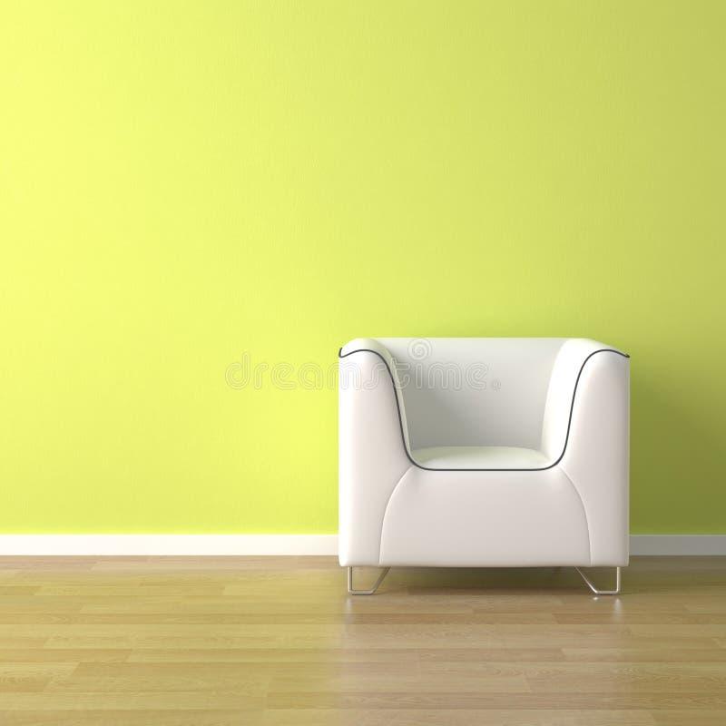 Sofá blanco del diseño interior encendido imagenes de archivo