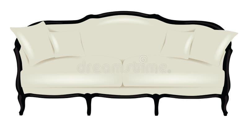 Sofá blanco moderno con las almohadas libre illustration