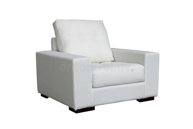 Sofá branco imagem de stock
