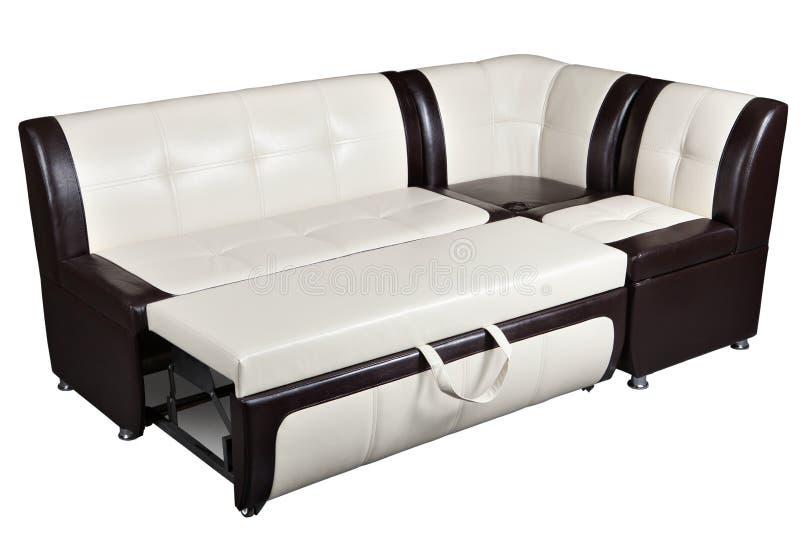 Sof cama de la esquina en la piel artificial muebles for Muebles de cocina en esquina