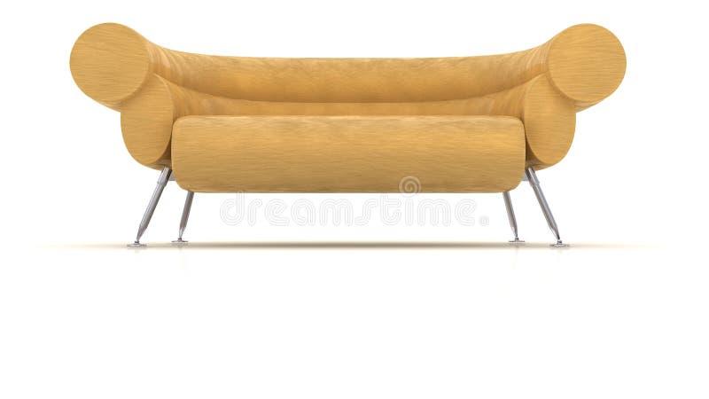 Sofá con estilo - aislado en blanco stock de ilustración