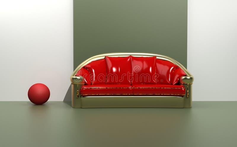 Sofá contemporáneo stock de ilustración