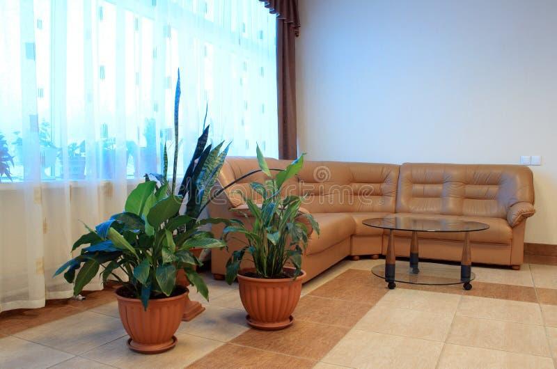 Download Sofá de couro foto de stock. Imagem de sofa, salão, tabela - 12805680