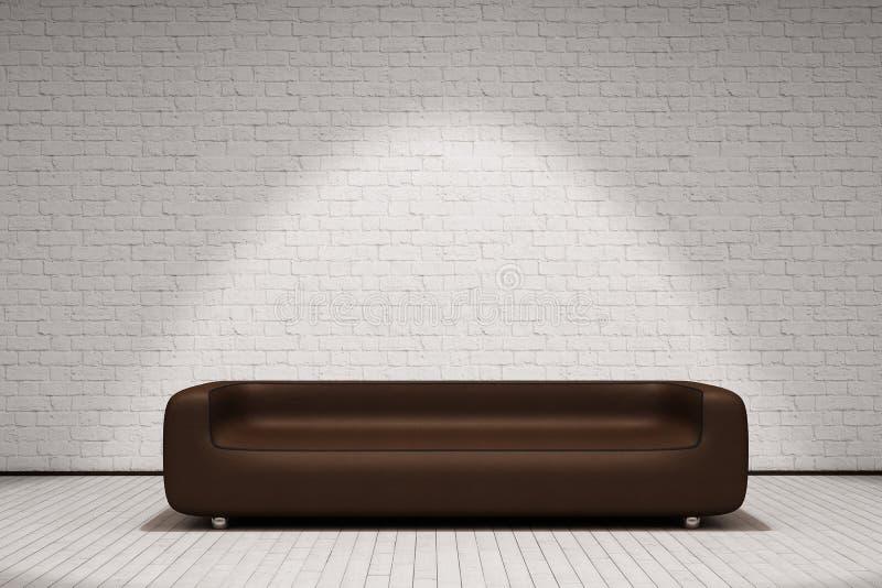 Sofá de cuero de Brown libre illustration