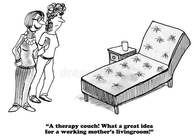 Sofá de la terapia stock de ilustración