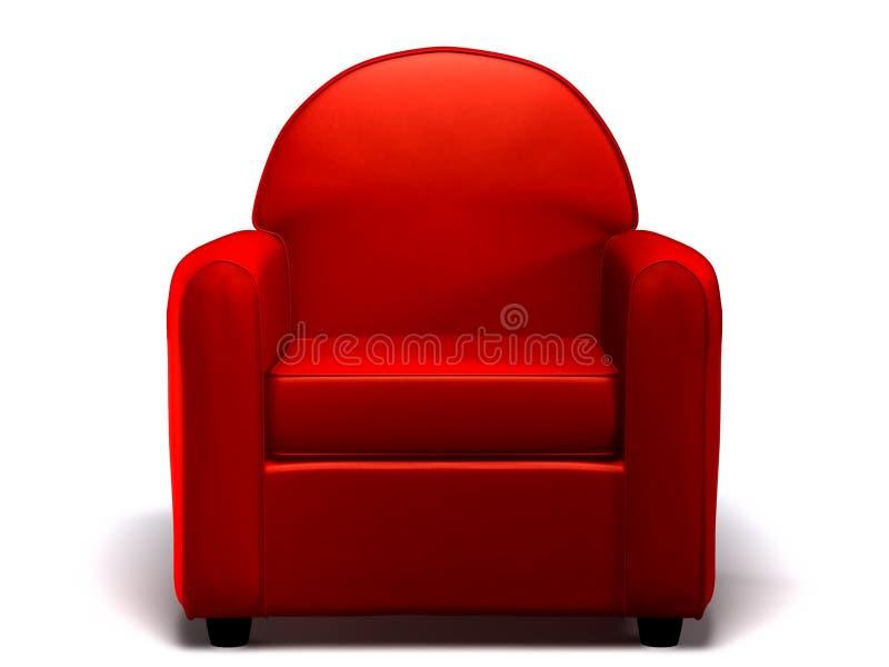 Sofá del solo asiento stock de ilustración