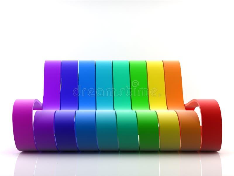Sofá do arco-íris ilustração stock