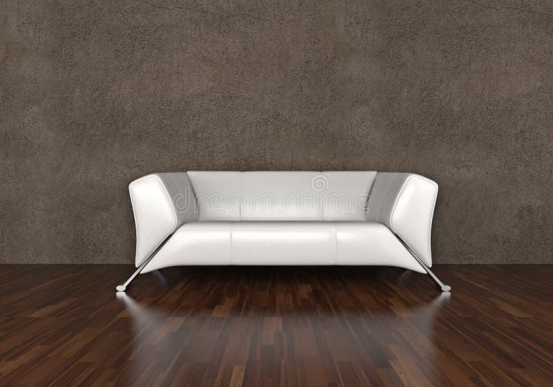Sofá do couro branco ilustração royalty free