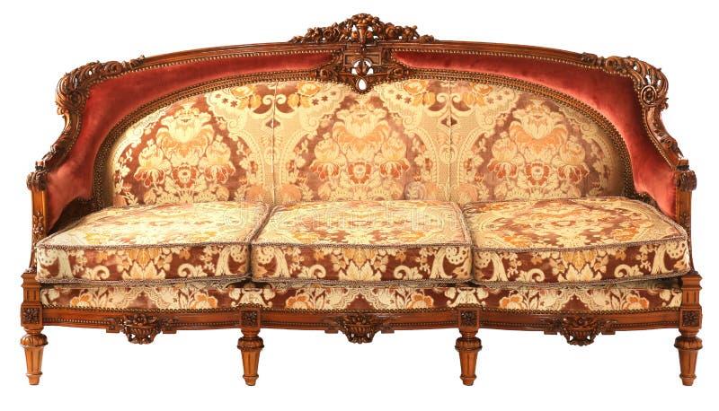 Sofá Dourado-vermelho Antigo De Madeira árabe Foto de ...