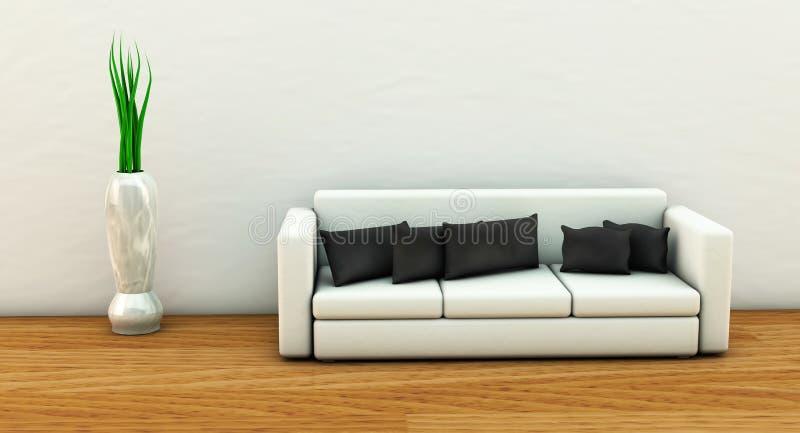 Sofá en 3d stock de ilustración