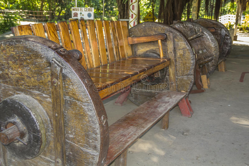 Sofá grande de Whell no museu do EL Ceibo, ilha de Ometepe foto de stock royalty free