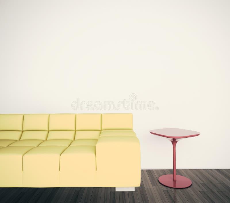 Sofá interior mínimo