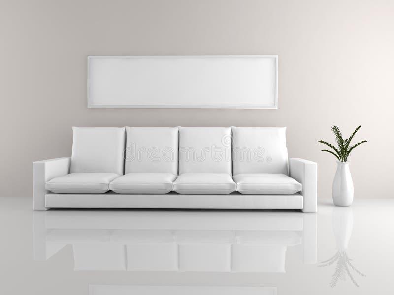 Sofá minimalista ilustración del vector