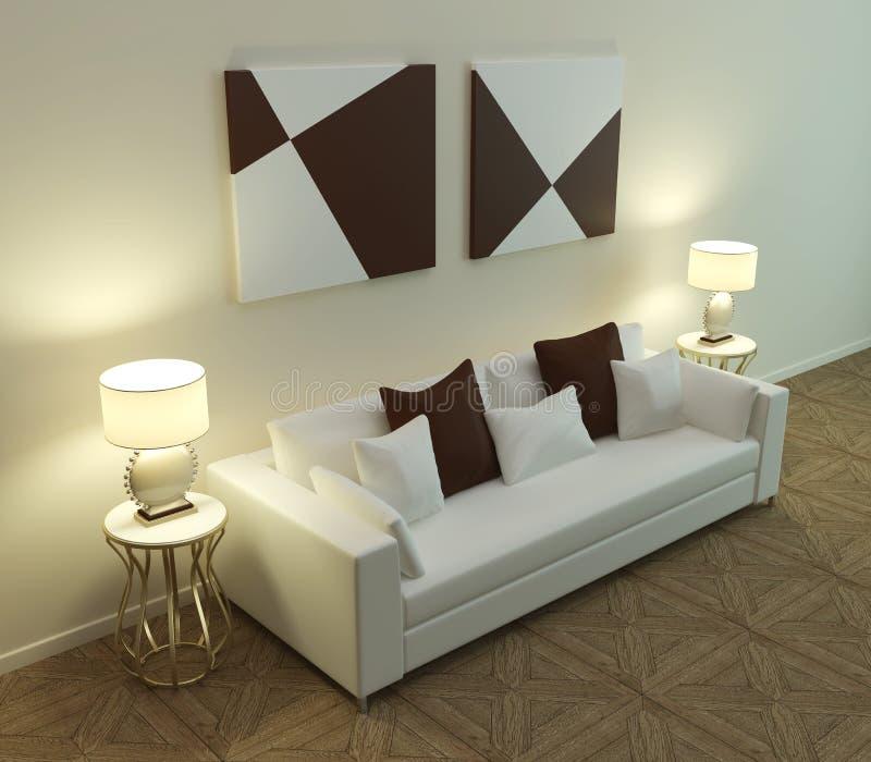 Sofá moderno 3D ilustración del vector
