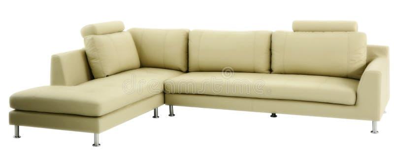 Sofá moderno aislado foto de archivo