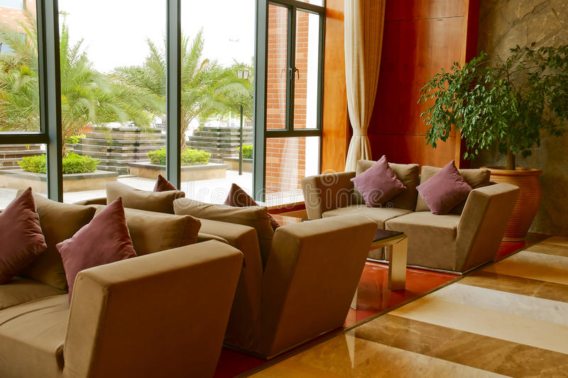 Sofá no hotel imagem de stock royalty free