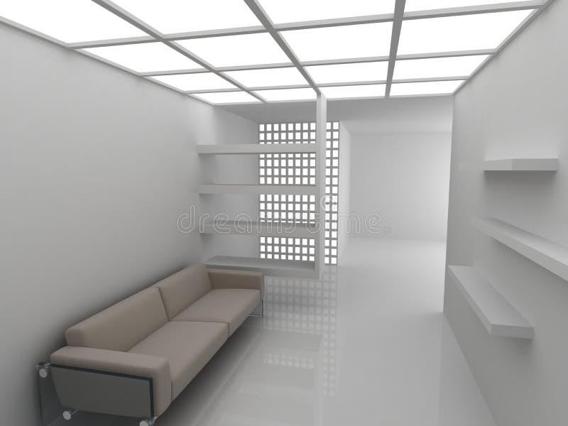 Sofá no quarto de descanso ilustração do vetor