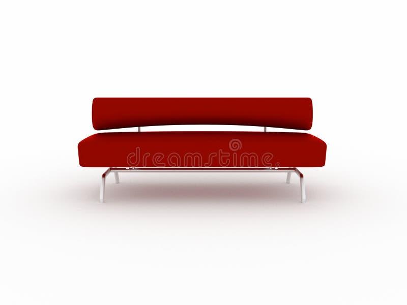 sofá rojo 3d aislado en blanco libre illustration
