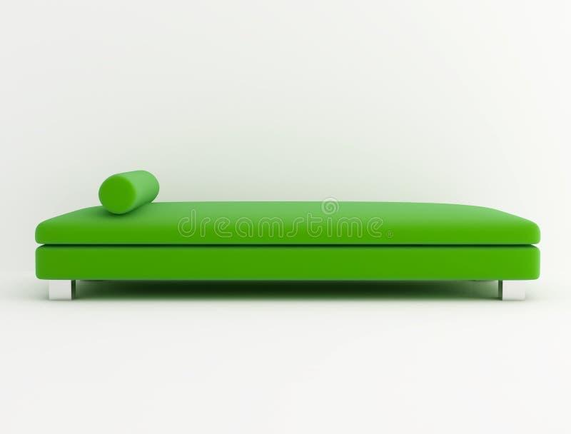 Sofá verde del terciopelo libre illustration
