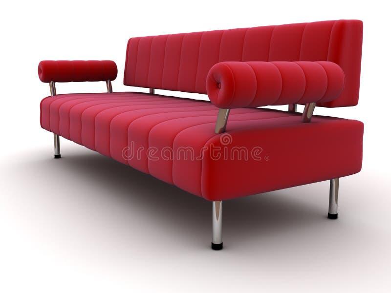 Sofá vermelho ilustração do vetor