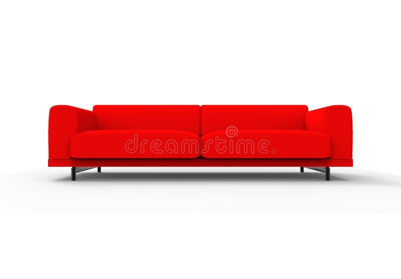 Sofá/sofá vermelhos isolado ilustração do vetor