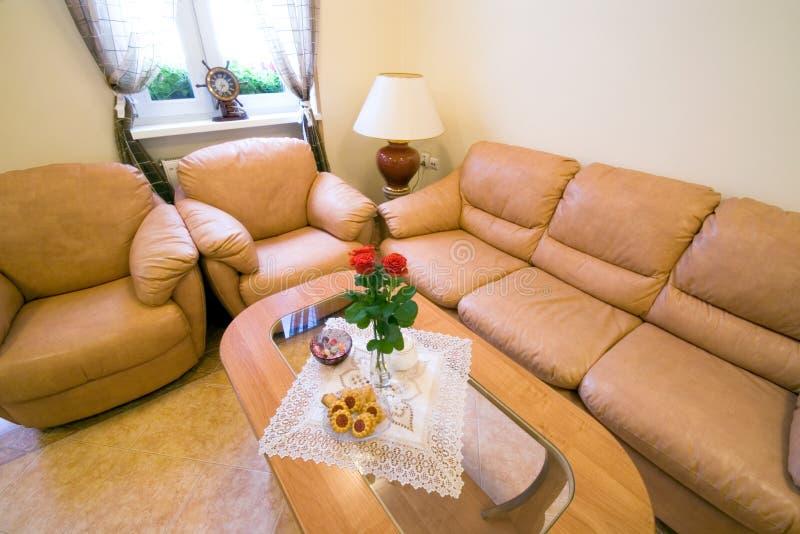 Sofás de la sala de estar imagen de archivo
