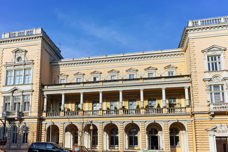 SOFÍA, BULGARIA - 7 DE NOVIEMBRE DE 2017: Edificio del club militar en el centro de la ciudad de Sofía fotografía de archivo libre de regalías