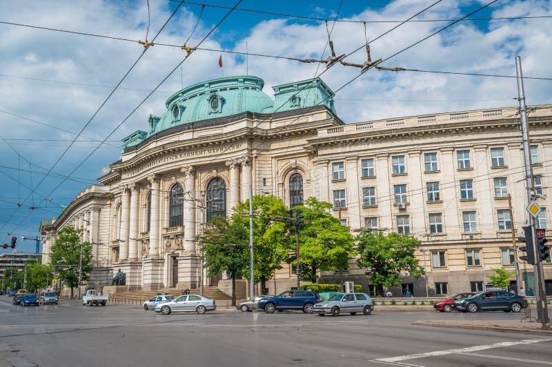 Sofía, Bulgaria - 5 13 2018: ` del St Kliment Ohridski del ` de Sofia University imagen de archivo