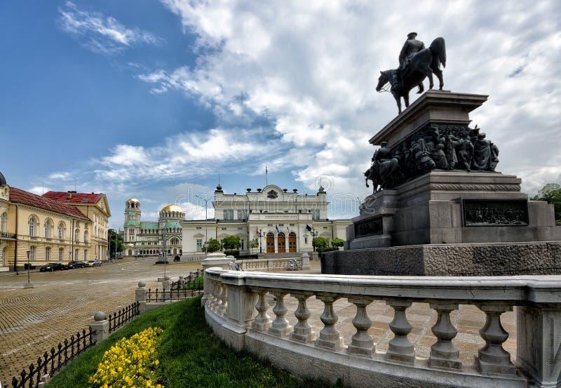 Sofía, Bulgaria, el parlamento ajusta fotos de archivo