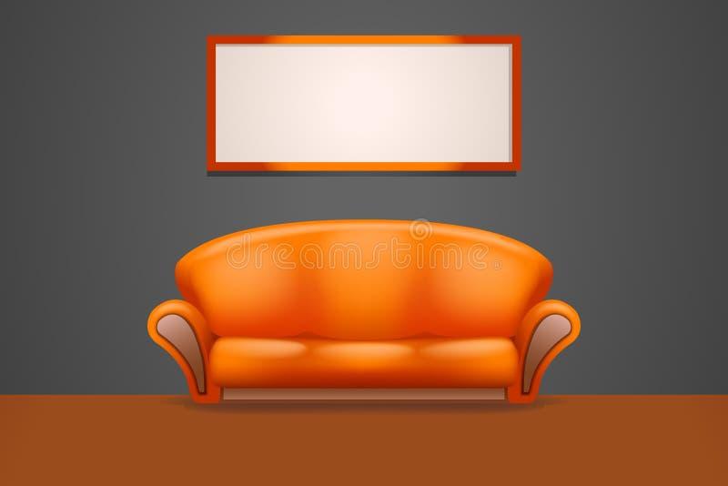 Sofa2 в комнате иллюстрация вектора