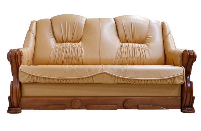 Sofa. On white background isolated stock photography