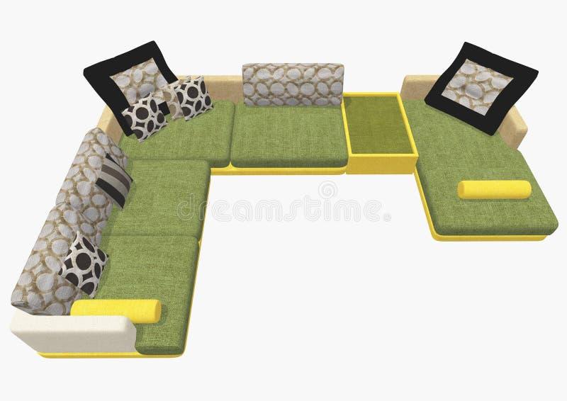 Sofa royalty free illustration