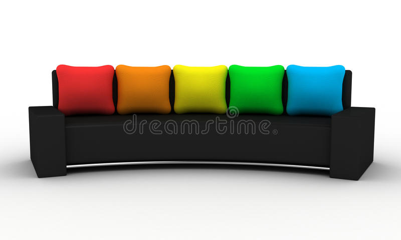 Download The sofa stock illustration. Image of object, black, colour - 21332914