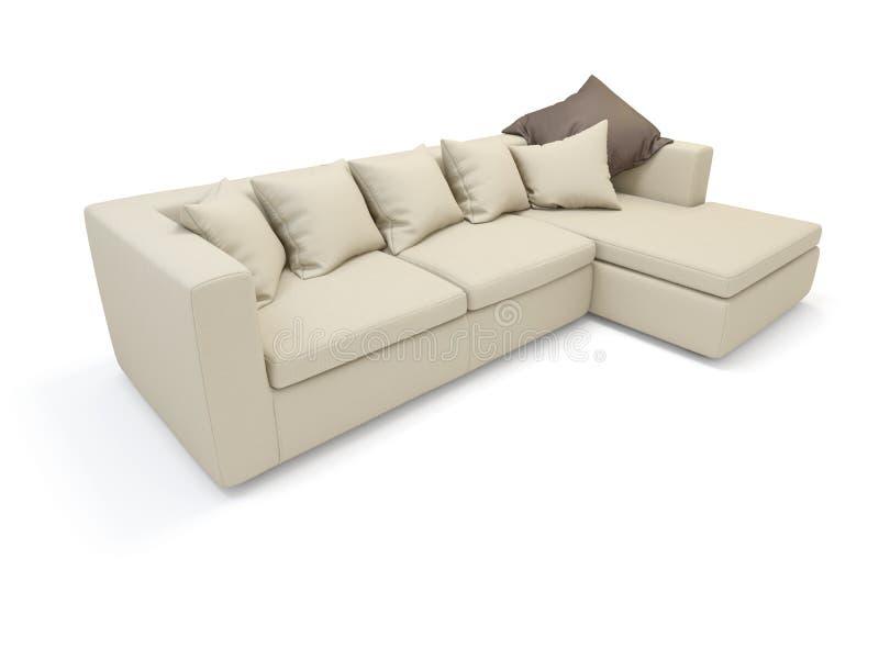 Download Sofa stock illustration. Image of fabrics, beige, modern - 25566639