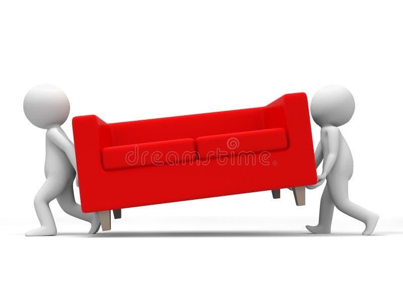 Sofa illustration stock