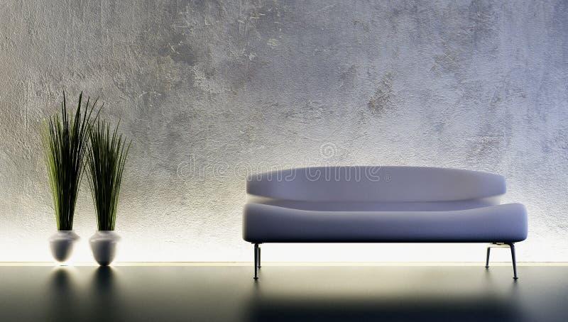 Sofa 3D rendering. Modern sofa 3D computer rendering