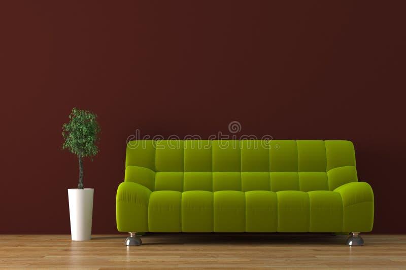 sofa royaltyfri illustrationer