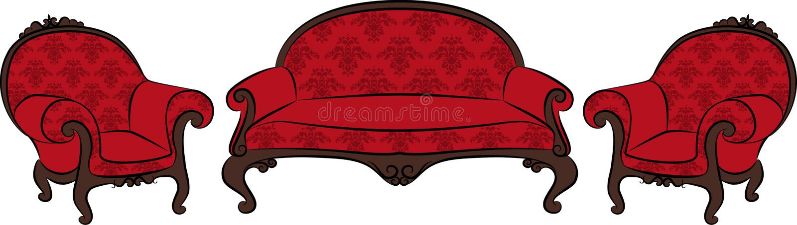 Download Sofa and arm-chair stock vector. Image of home, dining - 21167778