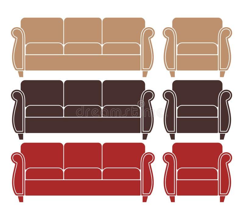 Sofa. Armchair vector illustration