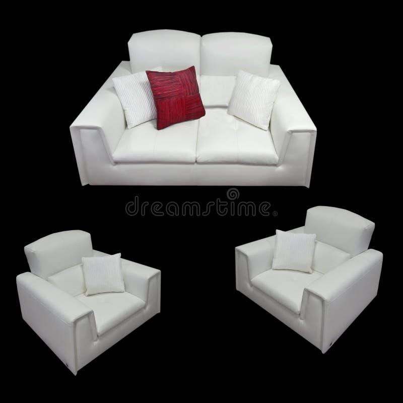 Sofa Armchairs Isolated Lifestyle de couro luxuoso foto de stock royalty free