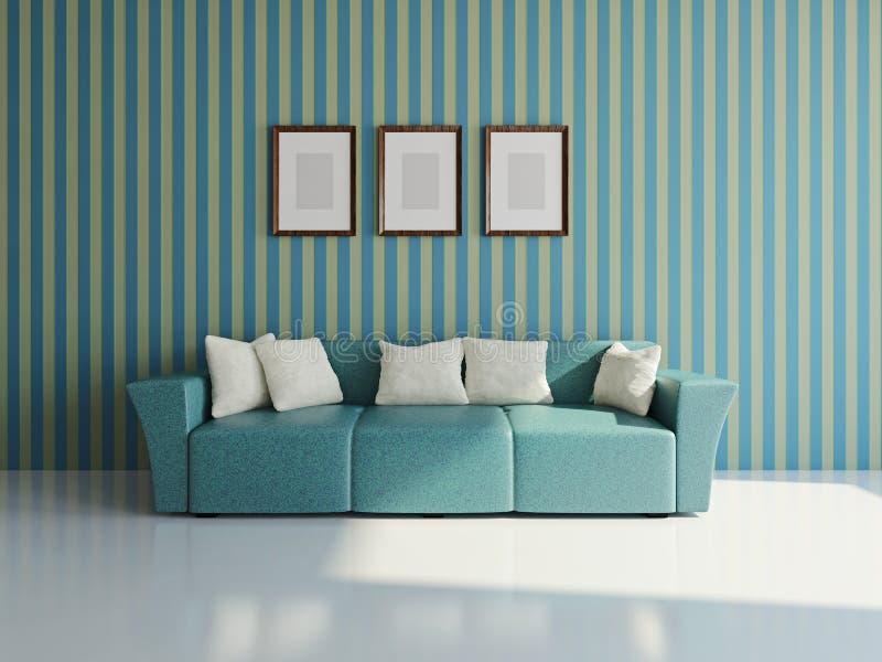 Sofa avec des oreillers illustration de vecteur