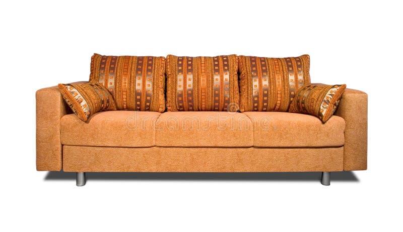 Sofa avec le capitonnage de tissu photo libre de droits