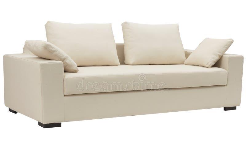 Sofa beige photo stock