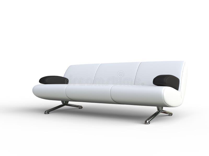 Sofa With Black Armrest branco fotografia de stock